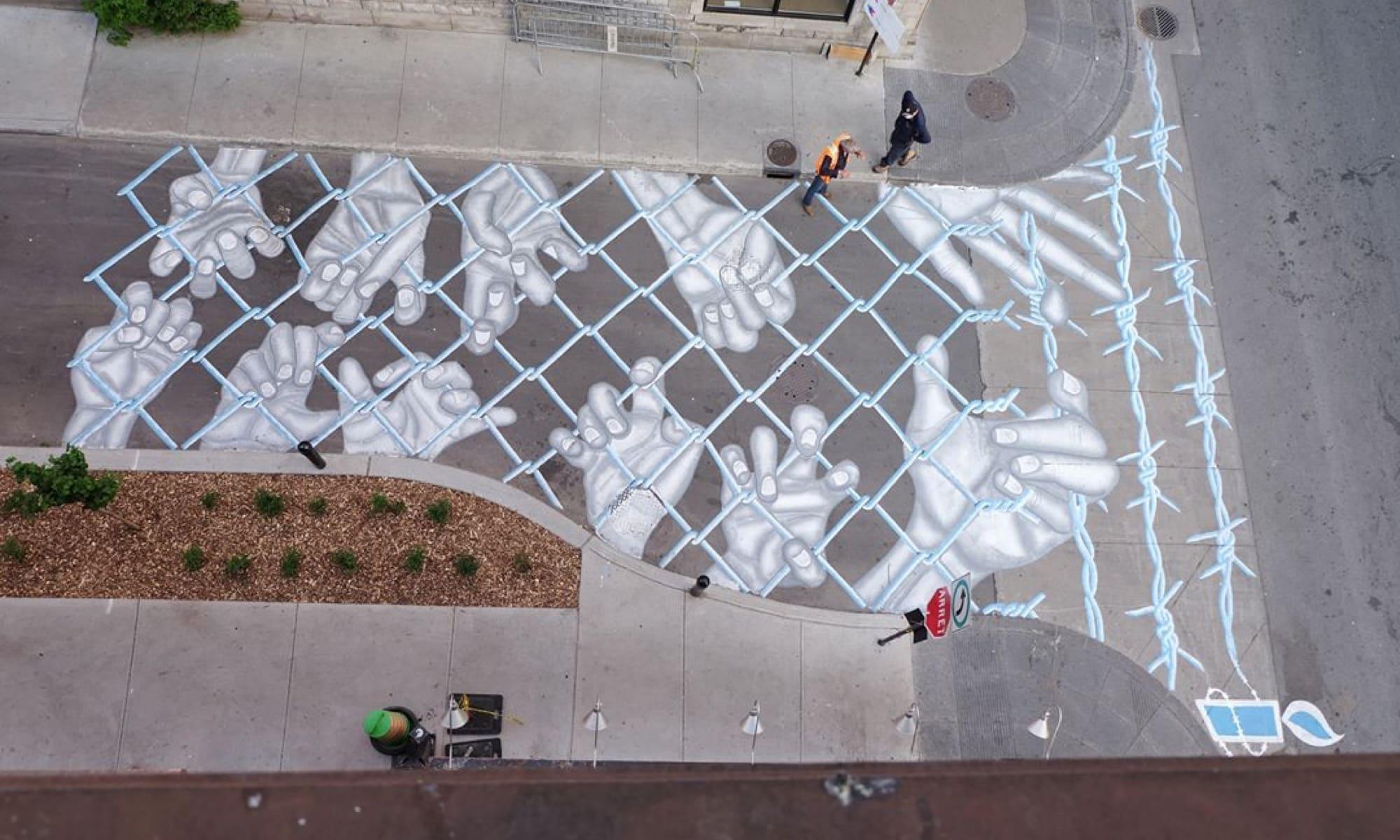 Street Artist : Roadsworth