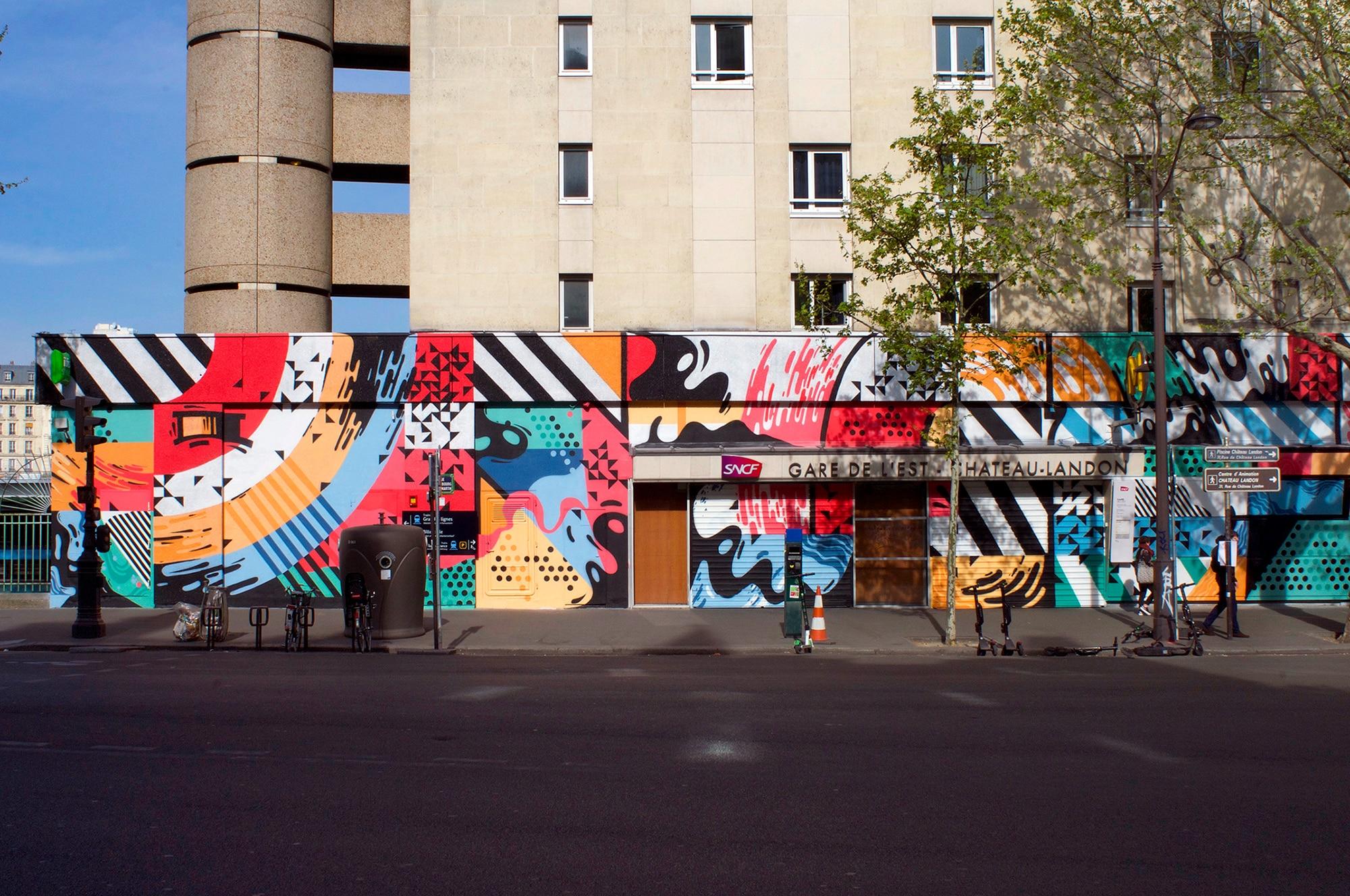 Opération Street Art : Gare de l'Est – Château-Landon