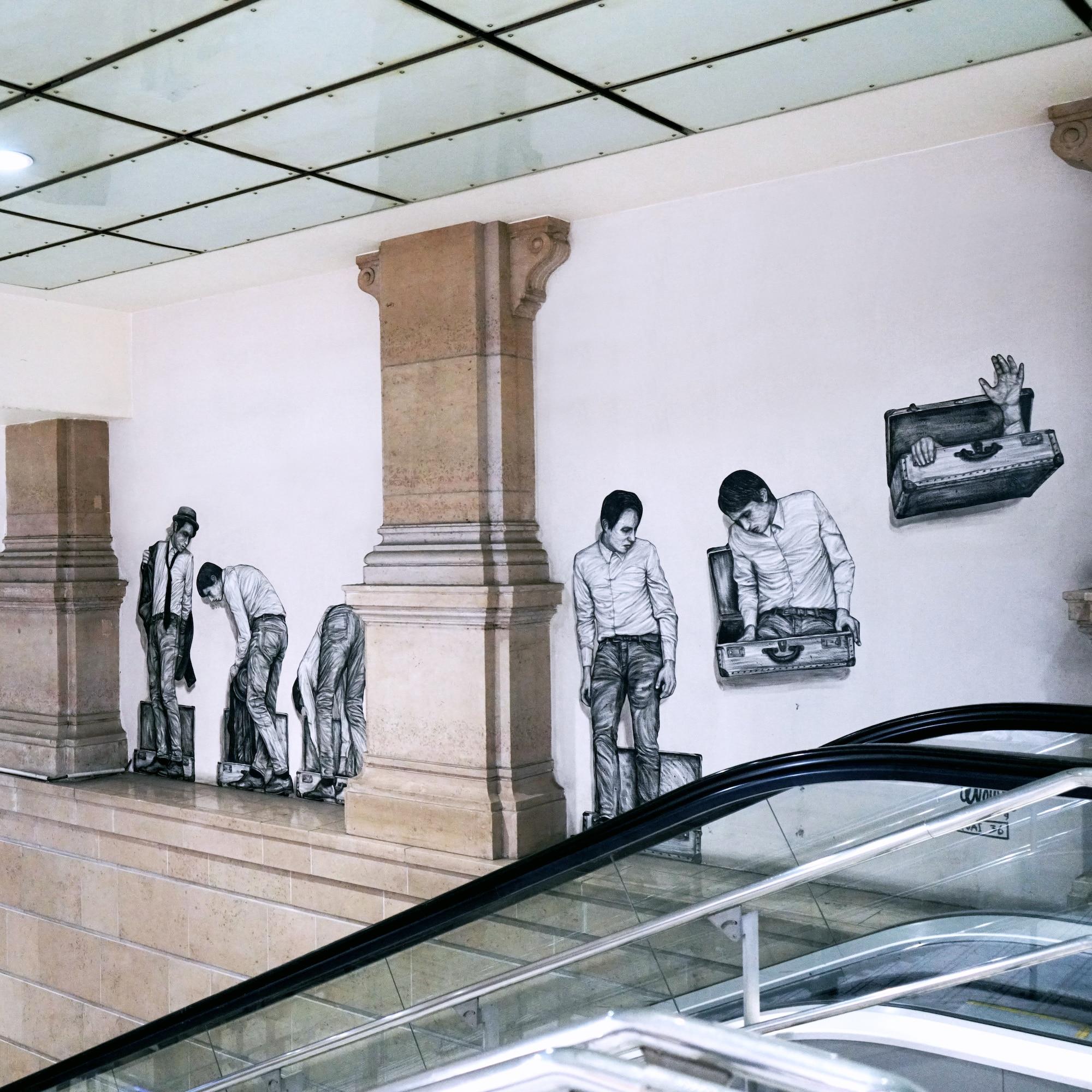 Street Art Operation : Gare Saint-Lazare