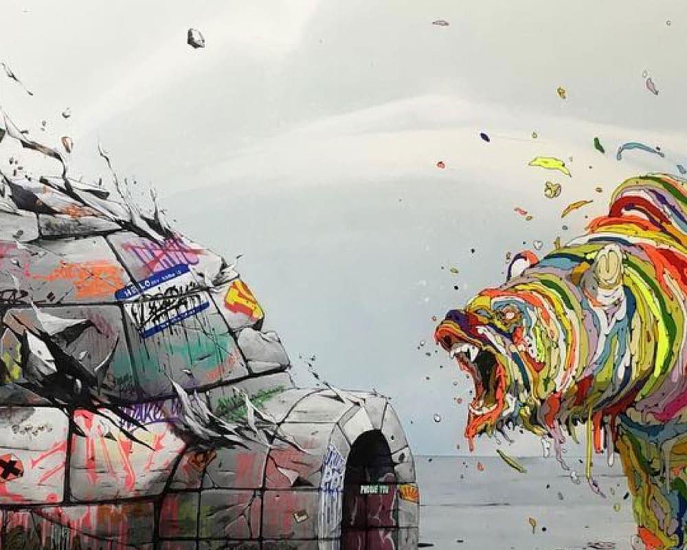 Street Artist : Brusk